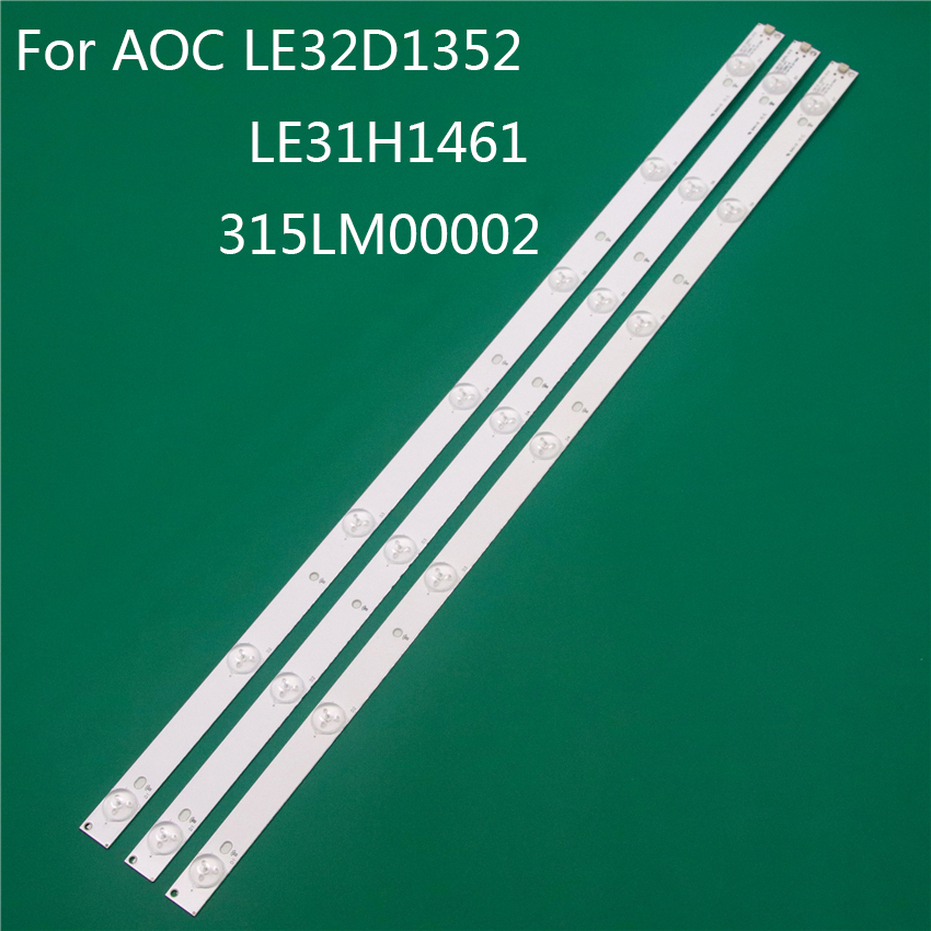 LED TV Illumination For AOC 315LM00002 LE32D1352 LE31H1461 32 Inch LED Bar Backlight Strip Line Ruler GJ-2K15 D2P5 D307-V1 V1.1