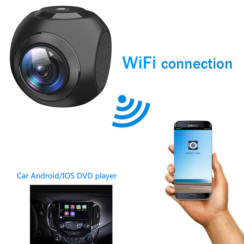 Ainina A9 WiFi Auto Dash Cam Full-HD 1080p Auto Dashboard Kamera Recorder Gebaut-in WiFi mit APP, sony Sensor, G-Sensor, WDR
