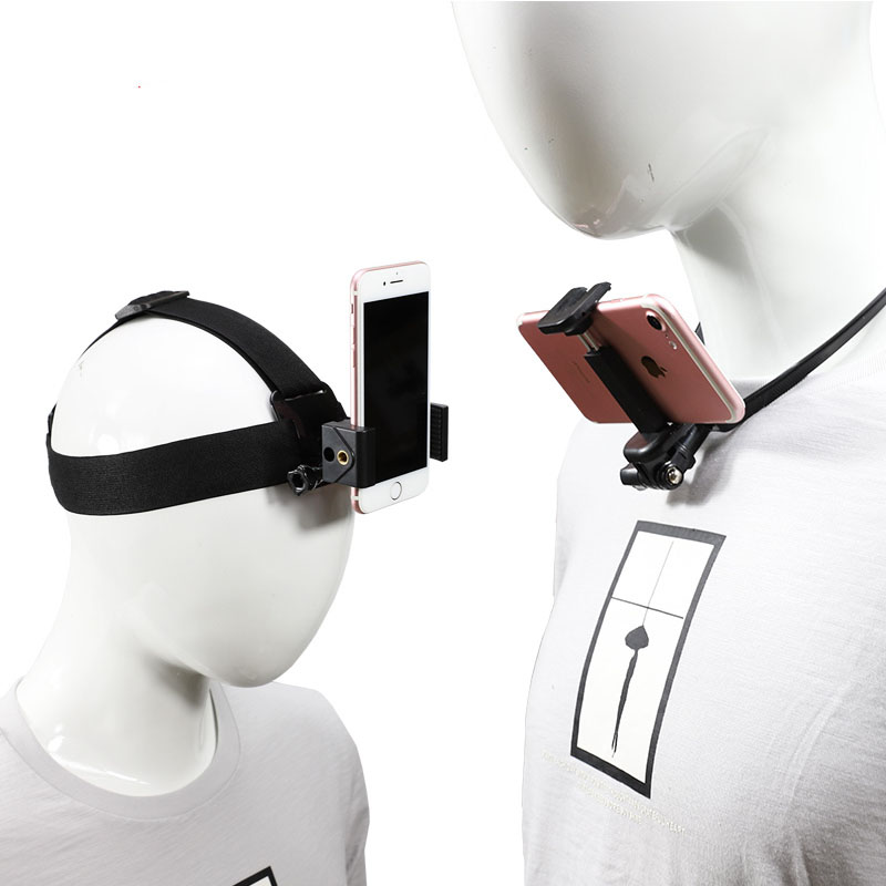Head Strap Mount for Gopro Hero 7 6 5 4 Camera Outdoor Head Band Holder for Yi 4K Camera for IPhone Xiaomi 4-6 8inch Mobile Phone