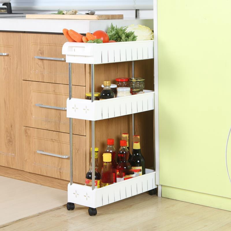 Slim Storage Cart Mobile Shelving Unit