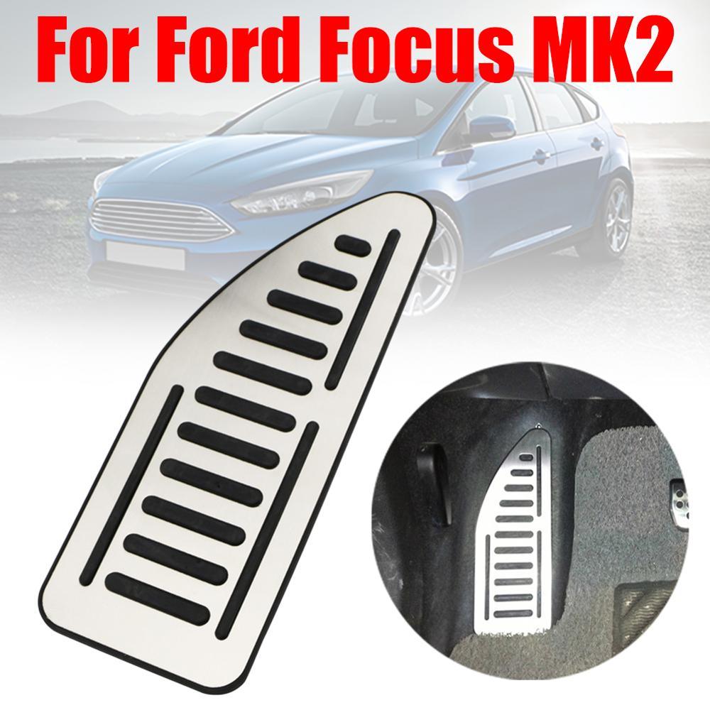 Pédale de voiture en acier inoxydable, couvre-pied, pour Ford Focus 2 MK2 Kuga Escape 6