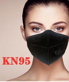 Máscara respirador KN95 FFP2 reutilizable, mascarilla facial con válvula kn95 ffp2 ffp3, mascarilla protectora de protección de 6 capas Anti-polvo