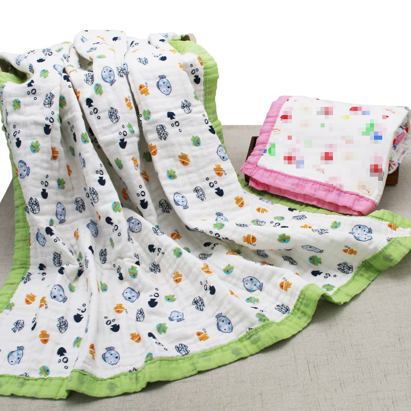 Combed Cotton Washing Gauze Bath Towel Six-layer Pure Cotton Gauze Blanket New Style Infants Children's Quilt Baby Swaddle