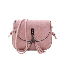 Clutches-Chain Messenger-Bags Tote Women Pu Tassel Solid Mini