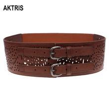 AKTRIS Womens All-match PU Genuine Leather Waistband Belts Waistline for Women Decorative Cummerbunds 7.9cm Width FCO158