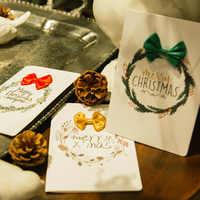 Criativo Papel 3D Merry Christmas Greeting Cards Crianas Bno Carto + Envelope Carto De Ano Novo Carto Postal Presente Dobrvel Xm