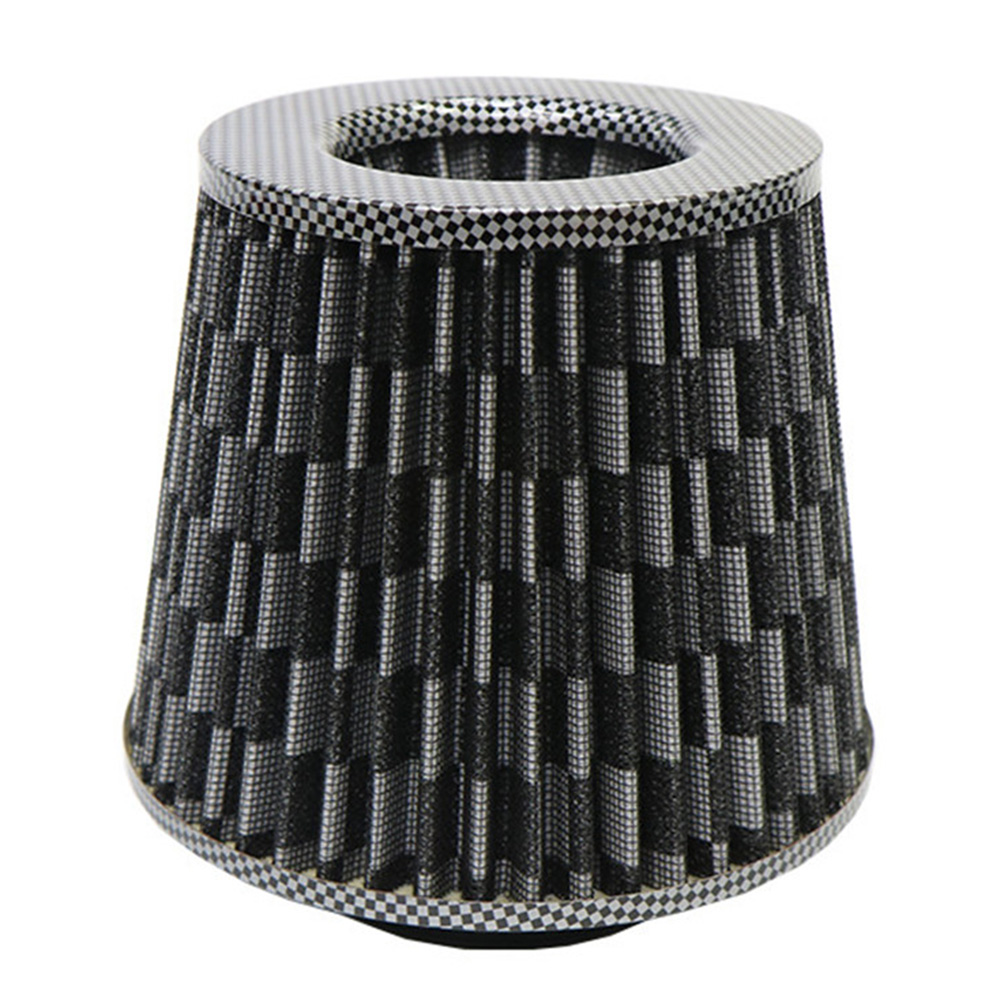 Universal Air Filter 3 Inch Cold Air Intake Supercharger 76mm Intake Hose Kit Car Accessories Black Carbon For Bmw E46 Toyota