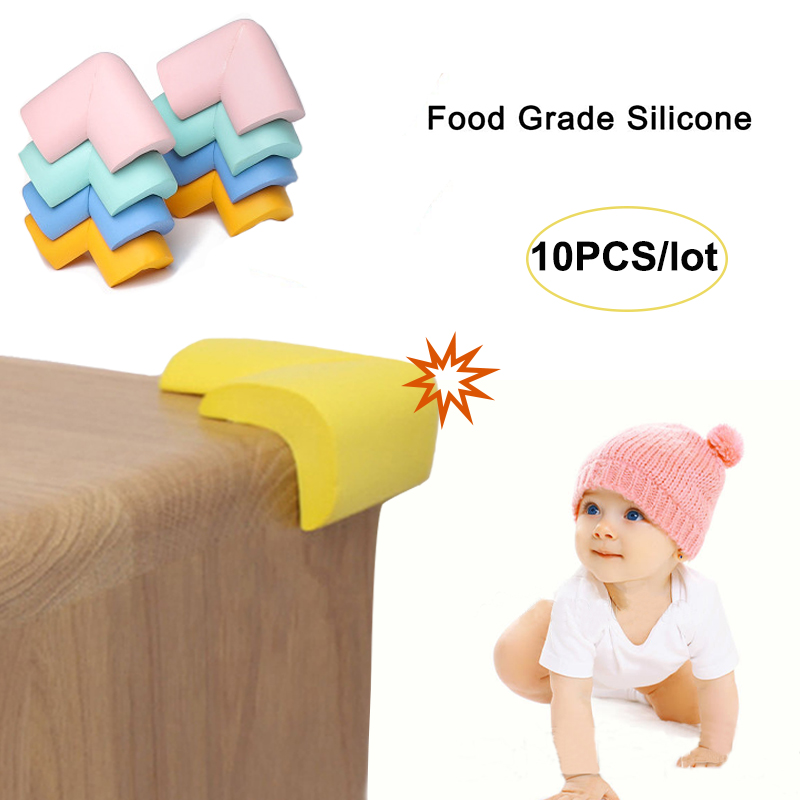 10pcs/lot Baby Safety Silicone Corner Protector Table Corner Edge Protection Cover Children Anticollision Edge Corner Guards
