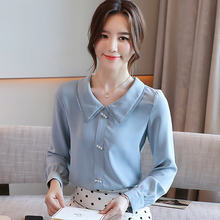 Женские блузы шифоновые рубашки для женщин элегантная женская