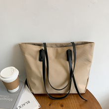 Large Capacity Soft Tote Bags For Women Minimalist Design Shopper Female Shoulder Bags A4 Work PU Leather Handbags 2020
