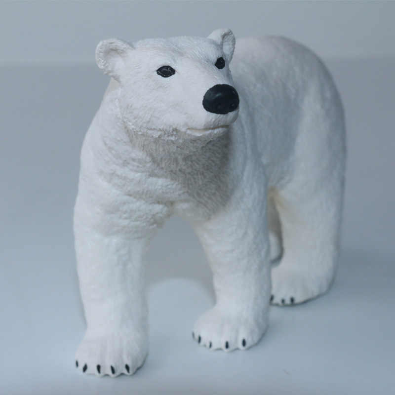 Schleich POLAR BEAR solid plastic toy wild zoo Arctic animal NEW *