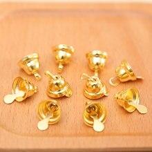 (10 pièces/paquet) petit Mini Jingle cloches or argent animal de compagnie suspendu en métal mariage décoration de noël accessoires pour artisanat bricolage