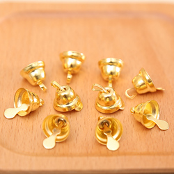 (10pcs/pack) Small Mini Jingle Bells Gold Silver Pet Hanging Metal Wedding Christmas Decoration Accessories For Crafts DIY