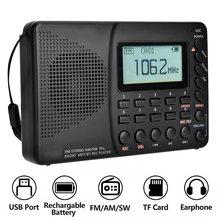 Женское полнодиапазонное радио bluetooth fm am sw портативные