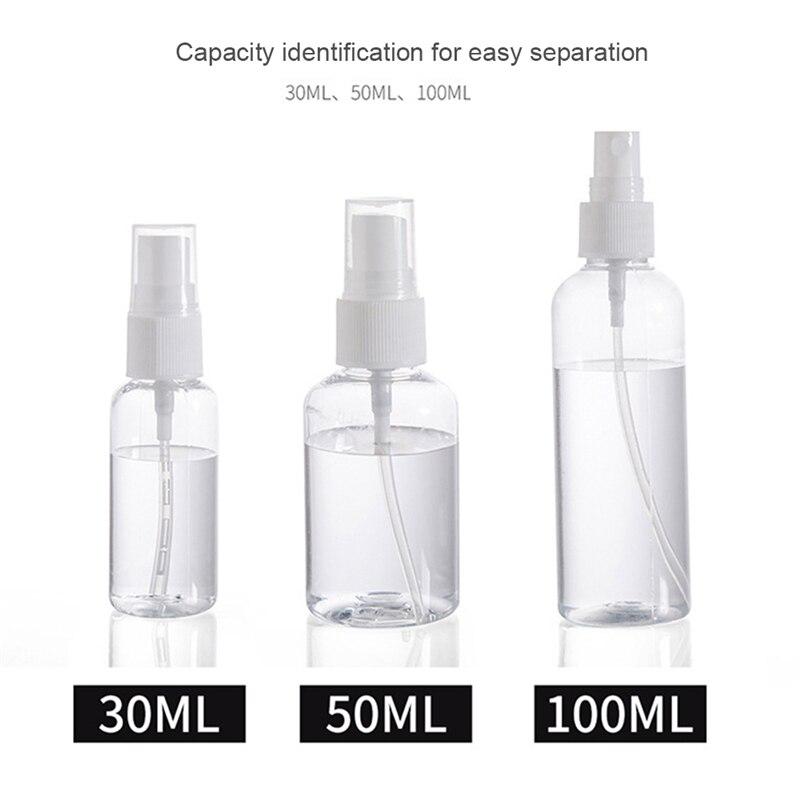 30 мл 50 мл 100 мл многоразовый мини-парфюм пустая бутылочка с распылителем косметические контейнеры пластмассовый распылитель портативный дорожный флакон для духов