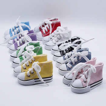 1 Pair 7.5cm Doll Canvas Shoes Bjd 1/3 BJD Doll Clothes Doll Accessories Footwear Sports Shoes Children Gift Toys Doll Clothes цена 2017