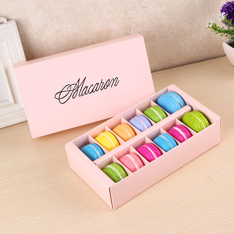 12macarons Rectangle Chocolate <font><b>Big</b></font> Capacity Small Pastry Macaron <font><b>Packaging</b></font> <font><b>Box</b></font> Baking Decoration <font><b>Gift</b></font> <font><b>Box</b></font> Party Supplies image