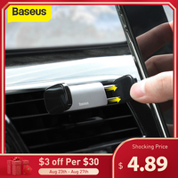 Baseus自動車電話ホルダー出口オートマウントサポート4.7-6.5インチiphone xiaomi mobilephoneに調整可能な自動車電話スタンド