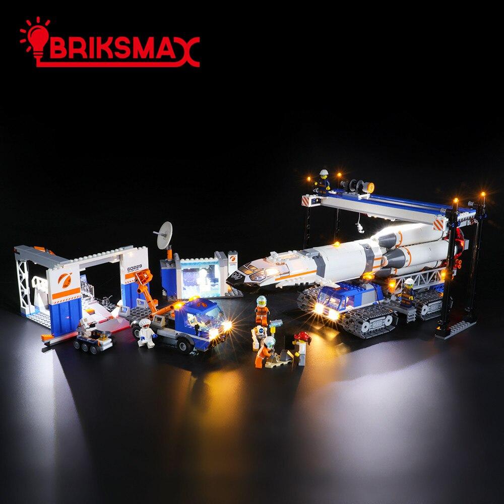 BriksMax Kit d'éclairage Led pour 60229 City série fusée assemblage et Transport jouets blocs de construction modèle ensemble d'éclairage