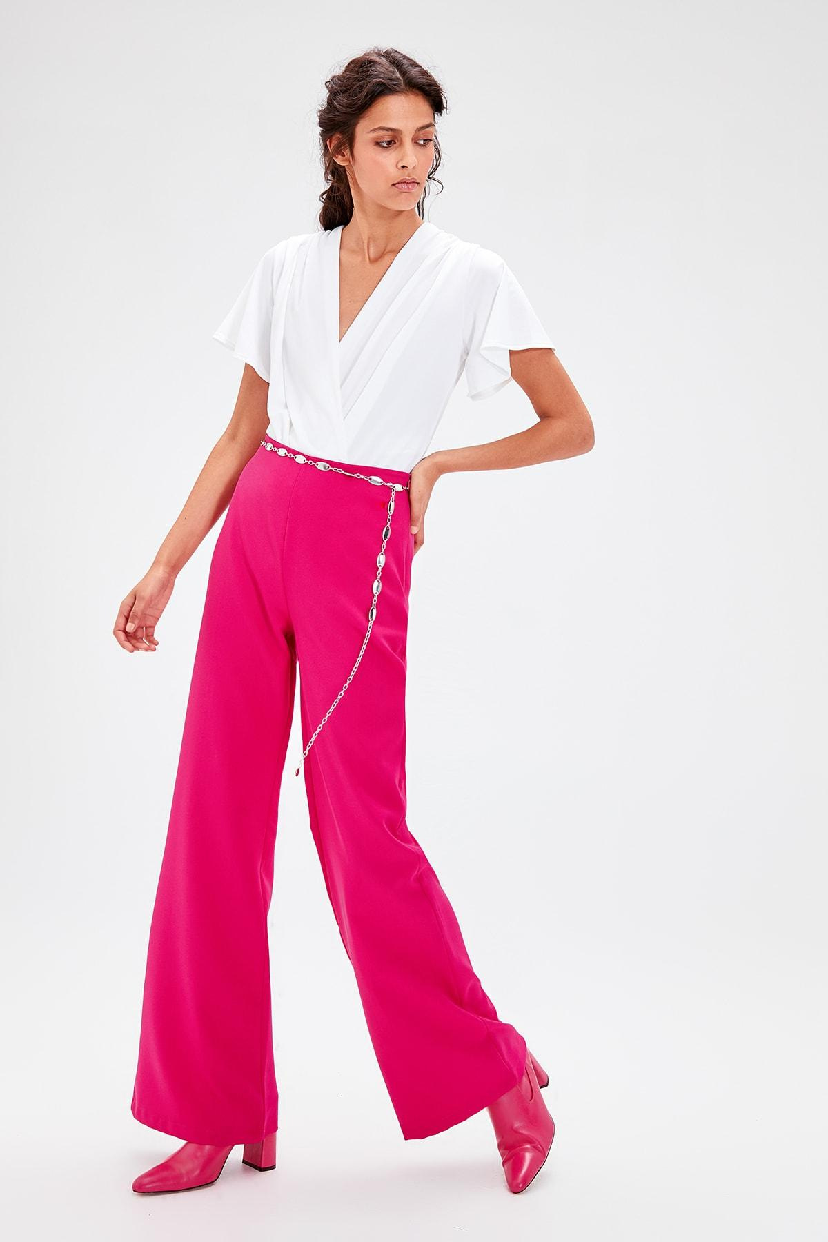 Trendyol Fuchsia Flare Pants TWOAW20PL0133