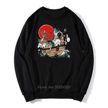 Studio Ghibli Hayao Miyazaki duch dala brzoskwiniowy kwiat bluza z kapturem Anime Kawaii Totoro Cartoon mężczyźni jesień bluza Streetwear tanie tanio CN (pochodzenie) Pełna Na co dzień Drukuj REGULAR O-neck Sweater Brak Polar COTTON Octan NONE