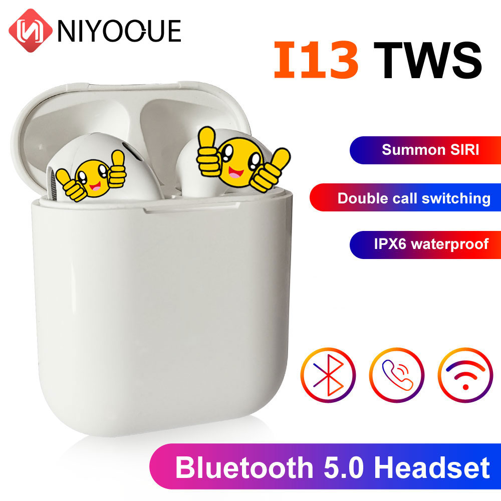 I13 TWS Wireless Earphones Touch Control Bluetooth 5.0 3D Super Bass Earphone For All Smart Phone