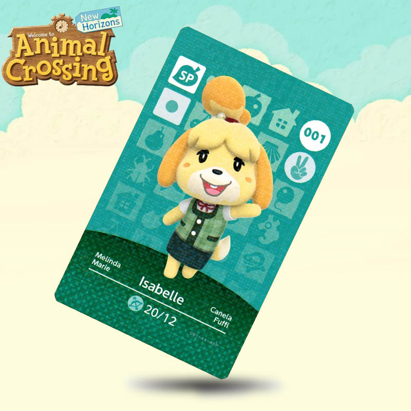 001 Isabelle (ACHHD)  Animal Crossing Card Amiibo Cards Work For Switch NS 3DS Games