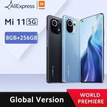 Xiaomi – Smartphone Mi 11, Version globale, 8 go de RAM, 256 go de ROM, Snapdragon 888 Octa Core, Charge rapide 55W, AMOLED 120Hz