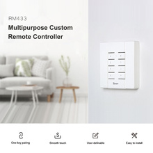 SONOFF RM433 with BASE 8 Keys Multipurpose Custom 433 MHz RF Remote Controller Works for 4CH Pro/TX Series/RF Bridge/Slampher/