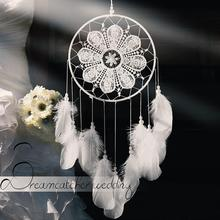 White Goose Feathers Dream Catcher Wedding Decorations Valentine 's Day Gifts Wind Chimes