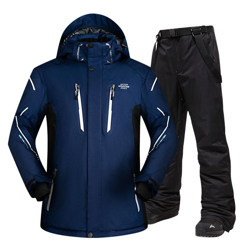 Ski Suit Men Sets Super Warm Thicken Waterproof Windproof Winter Snow Suits Male Sets Winter Skiing And Snowboarding Jacket Men