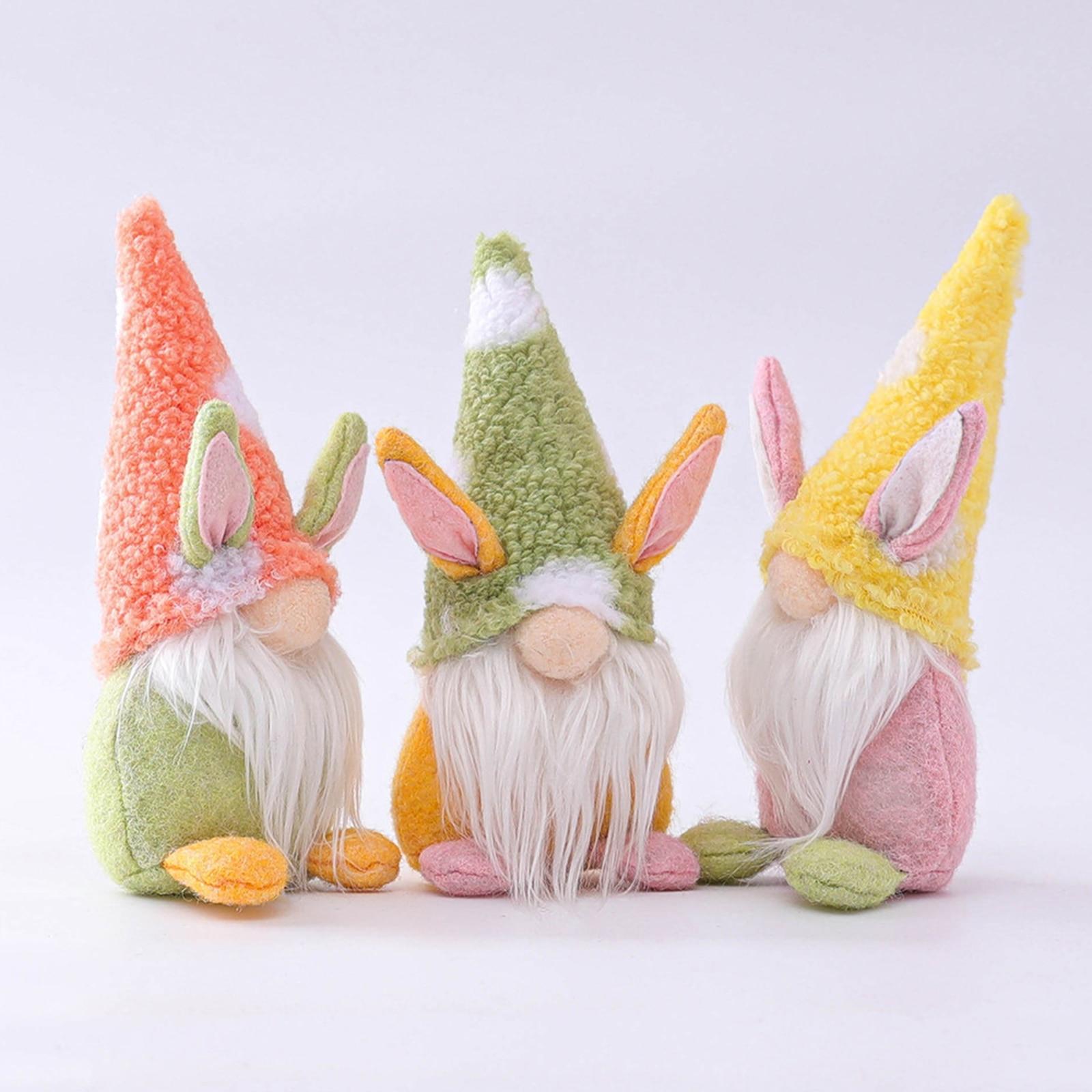 2021 пасхальное Безликий куклы Кролик с морковкой гномик куклы эльфа украшения дома Счастливого Рождества Рождественский Новый год кукла по...