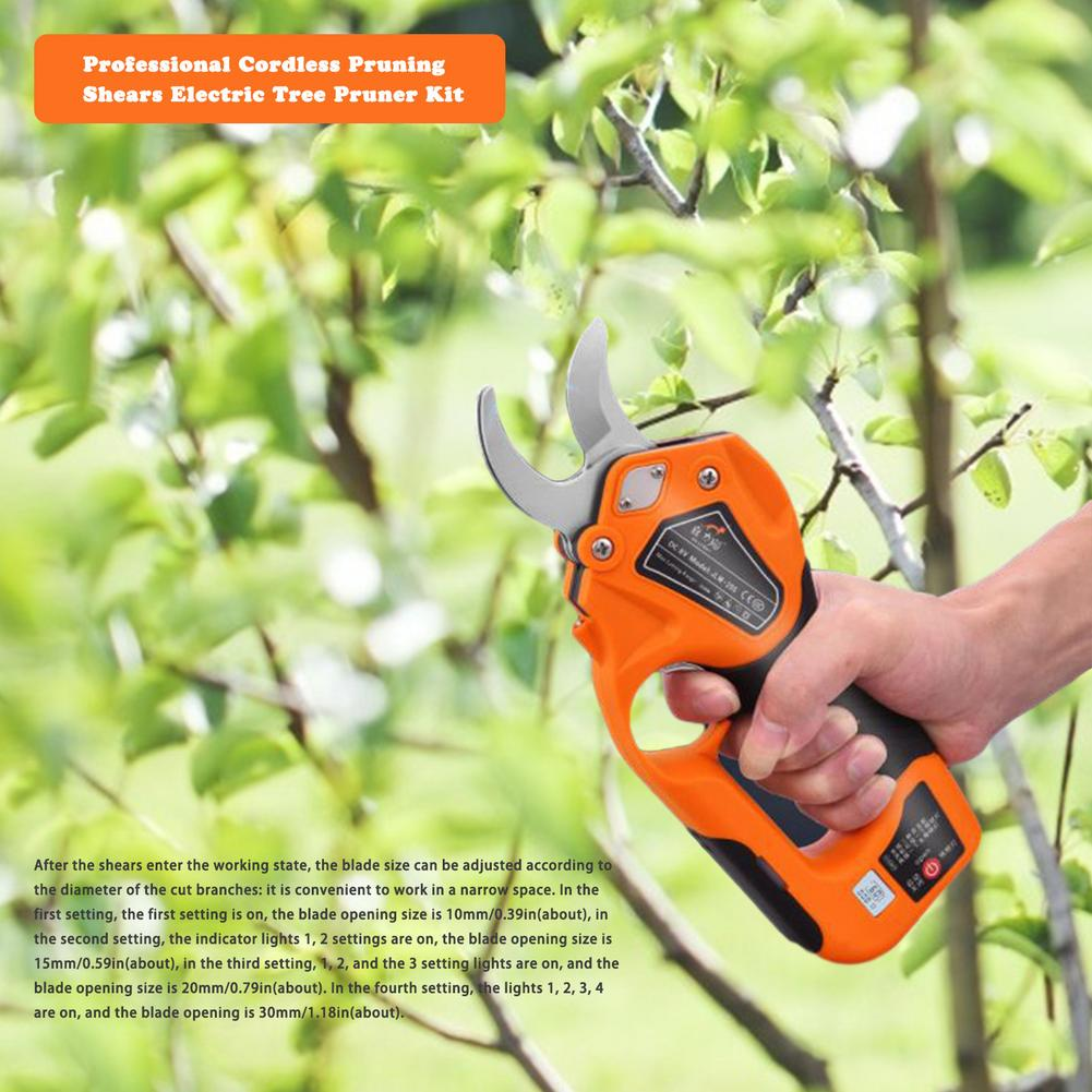 Shear Pruner Fruit Landscaping Tree Bonsai Pruning Pruning Efficient Electric Cordless Branches Cutter 8V150W