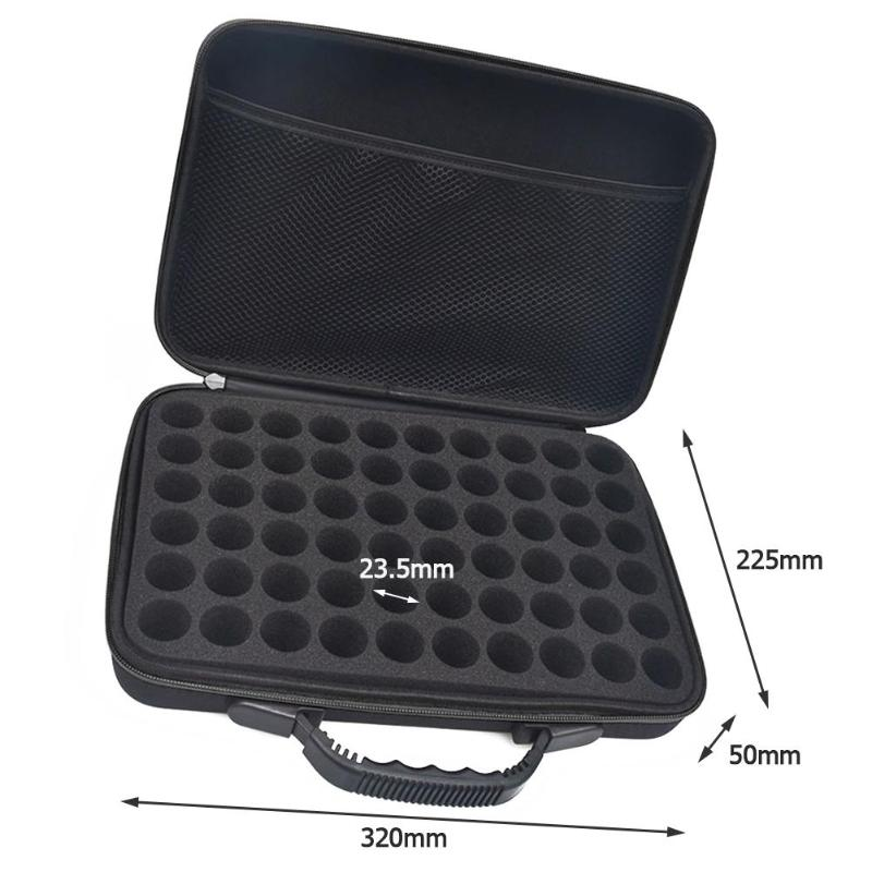 60 Bottles Essential Oil Case Essential Oil Collecting Bags Travel Portable Carrying Cases Nail Polish Storage Bag