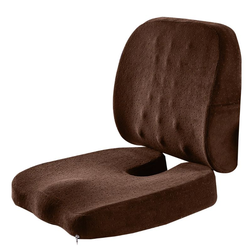 Seat Cushion Coccyx Orthopedic Memory Foam and Lumbar Support Pillow
