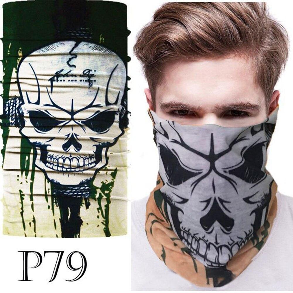 Image 4 - 3D Skull Seamless Magic Neck Gaiter Face Mask Cover Shield Cycling Hiking Tactical Paintball Bandana Headband Scarf Men & WomenScarves   -
