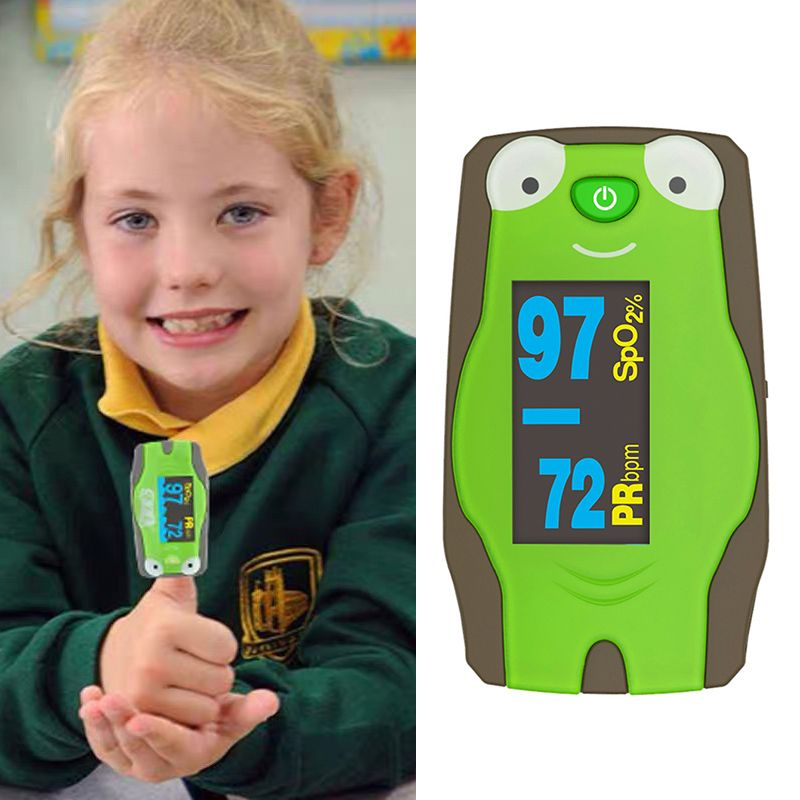 Infant & Children Oximeter Fingertip Pulse Oximeters For Baby & Kids Blood Oxygen Saturation And Heart Rate Monitoring