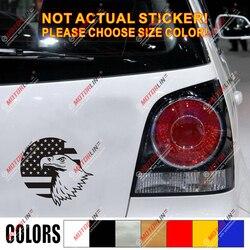 Bald Eagle USA American Flag Decal Sticker Car Vinyl die cut round pick size