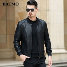 BATMO 2020 spring thin natural real leather jackets men,sheepskin leather