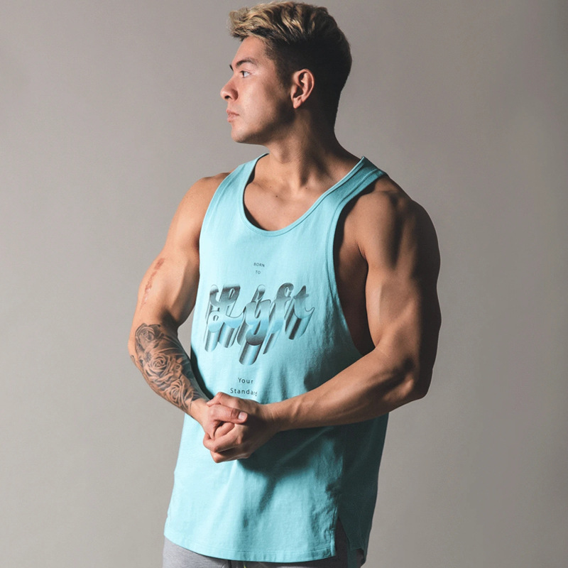 2020 New Bodybuilding Cotton Sleeveless Tank Top Men Gyms Casual Clothing Workout Fitness Shirt Stringer Singlet Male