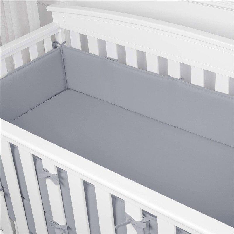 4 Teile/satz Einfarbig Baby Stoßfänger Kissen Kissen Stoßstange für Infant Bebe Krippe Protector Nestchen Kinder Zimmer Dekor Bett zubehör