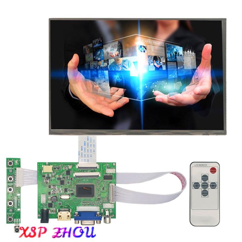 New 10.1 Inch IPS LCD Display Module HDMI+VGA+2AV Driver Board for Raspberry Pi