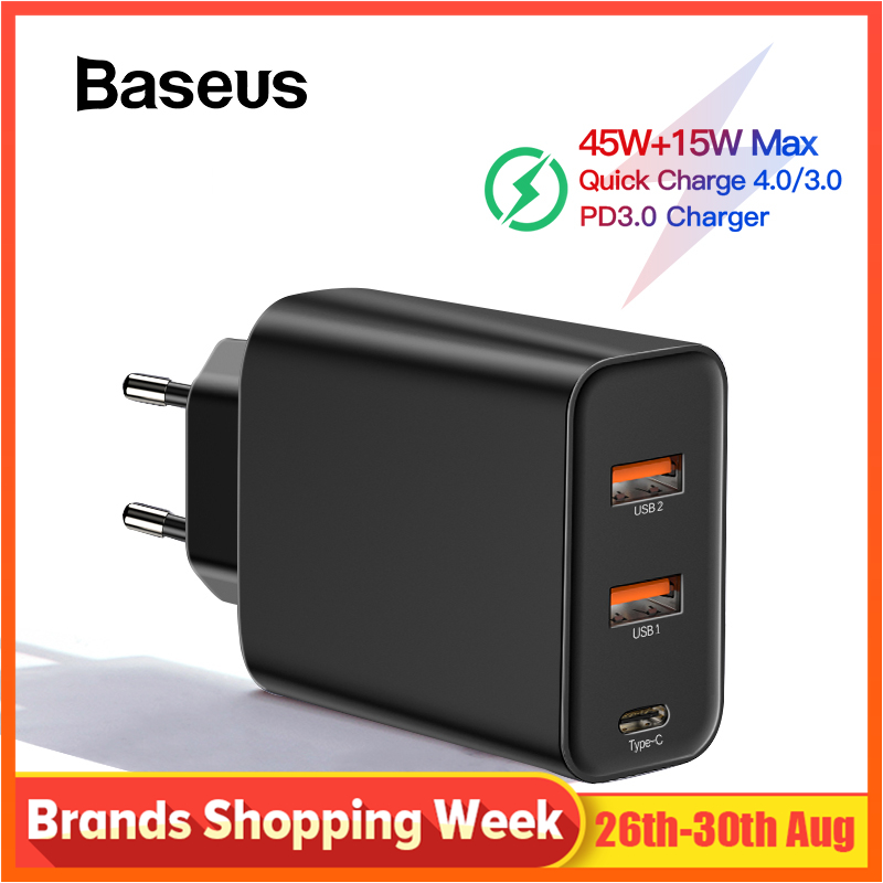 Baseus PPS Carga Rápida 4.0 3.0 USB Carregador de Telefone para Samsung s10 QC mais 4.0 3.0 Carga Rápida PD 3.0 carregador rápido para iPhone x