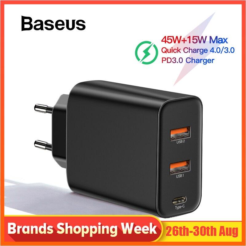 Chargeur rapide 4.0 3.0 USB Baseus PPS pour Samsung s10 plus QC 4.0 3.0 chargeur rapide PD 3.0 chargeur rapide pour iPhone x
