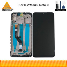 """Original 6.2"""" For Meizu Note 9 Axisinternational LCD Display Screen+Touch Screen Panel Digitizer Frame For Meizu Note 9"""