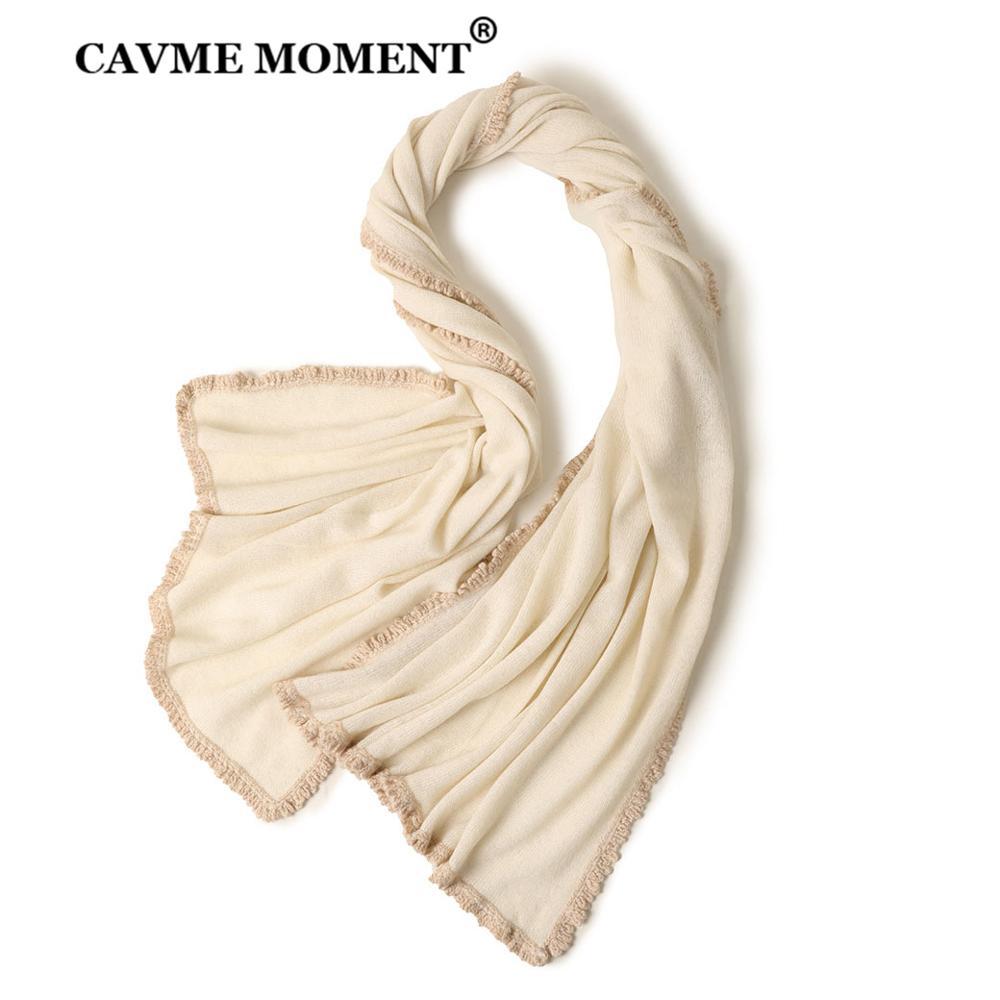 CAVME Knitted Cashmere Scarf for Women Winter Ladies Fashion Scarves Largue Size Shawls Pashmina Wraps 200*70cm 196g