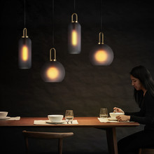 Modern LED Restaurant Chandelier American Bedside Lamp Luxury industrial wind glass Ball Dining table bar table Lighting