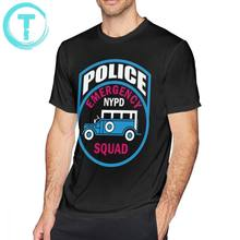 Nypd T-shirt NYPD NOTFALL SQUAD POLIZEI T-Shirt Kurzarm Gedruckt T Shirt Sommer Oversize Lustige 100 Baumwolle Herren T-shirt(China)