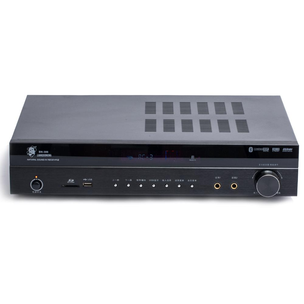 4.0 Bluetooth USB SD Fiber Coaxial Lossless AC-3 Decoding Input 5.1 Surround Sound Home Theater Amplifier