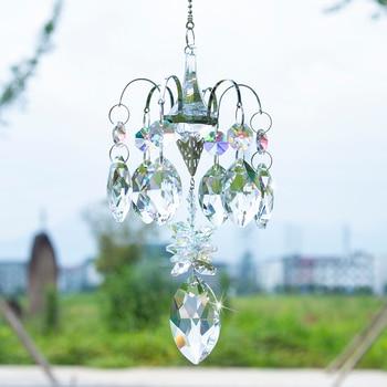H & D Cristalli Cavallo Occhio Prismi Suncatcher Finestra Appeso Ornamento Dell'arcobaleno Maker Gancio per la Casa, decorazione del giardino Auto Pendenti E Ciondoli Regalo H&D Crystal 1